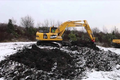 excavator video review Hybrid Komatsu YouTube
