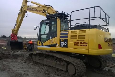 Gordon McLeod Plant Hire Komatsu excavator