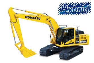 HB215LC-2 Hybrid Komatsu diggers excavators Marubeni-Komatsu machine heavy equipment 20 ton tonne