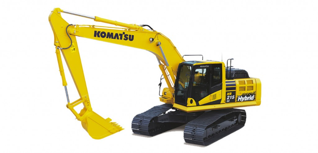 waste and recycling hybrid excavator hb215