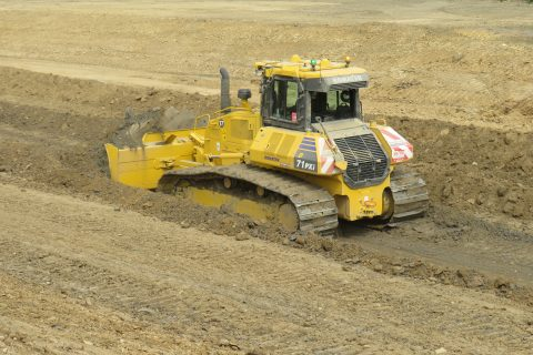 Wordsworth Excavations receive the first Komatsu D71PXi-24 in the United Kingdom.