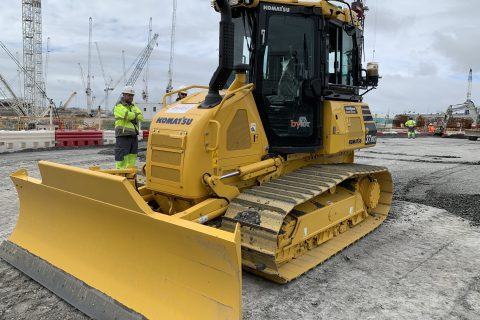 Bylor invest in Komatsu machines for Hinkley Point C