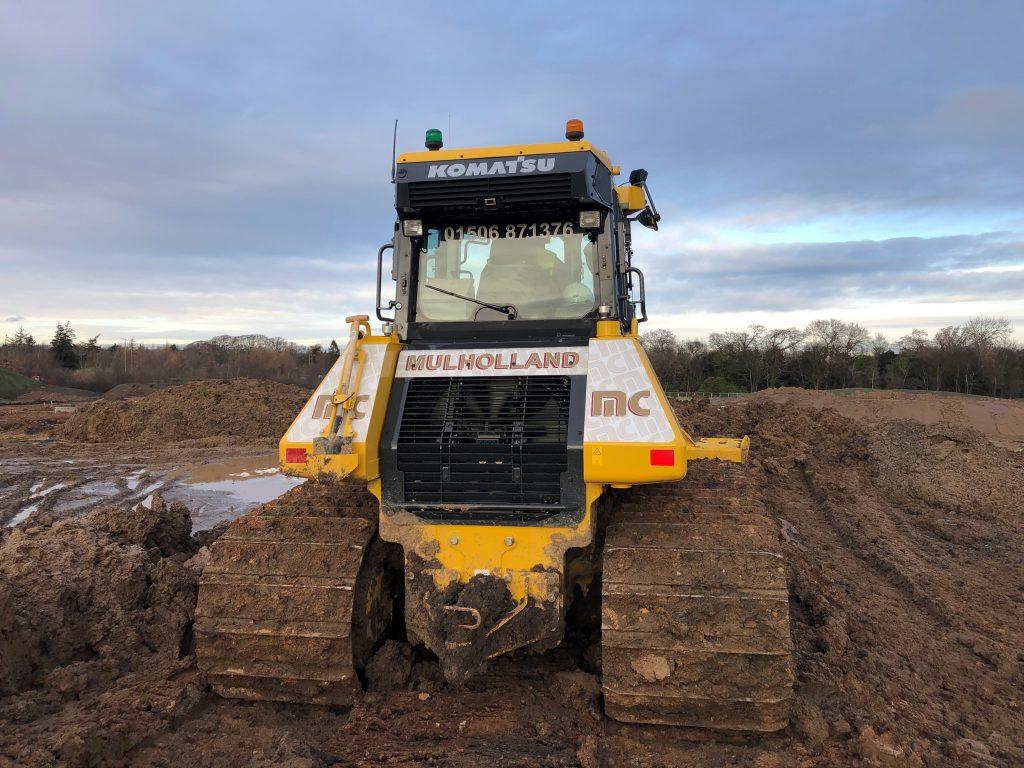 Mulholland Yellow Bulldozer Dozer Mud Komatsu
