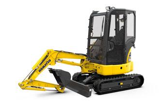 Introducing the new Komatsu PC24MR-5 mini excavator.