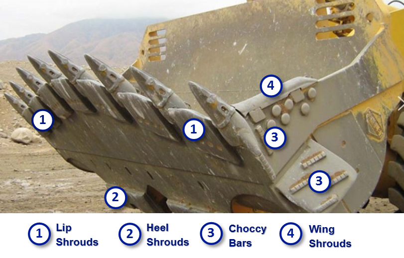 Komatsu parts ground engaging tools wheel loader bucket
