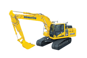 Demonstration Komatsu intelligent machine control technology PC210LCi-11