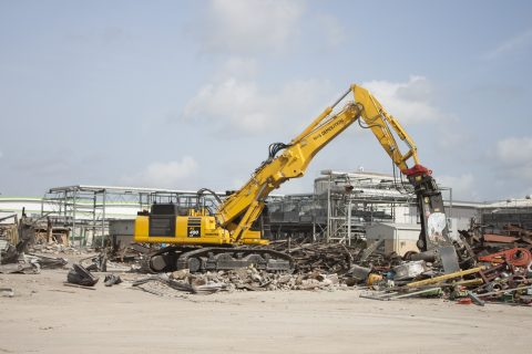 W&S recycling W & S Recycling demolition excavator komatsu