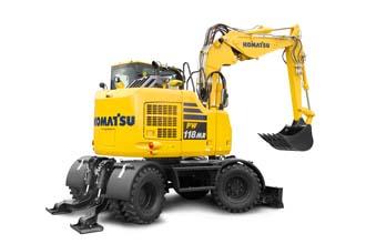 PW118MR-11 midi excavator PW118 Wheeled excavator marubeni komatsu rubber duck