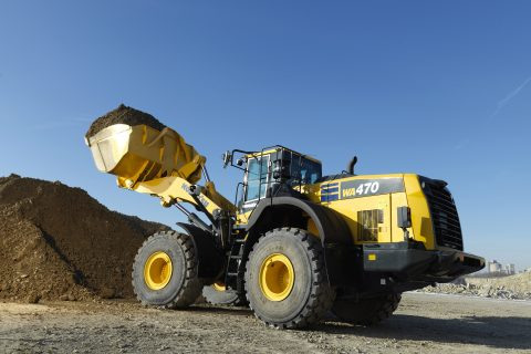 Loadmaster α 100 now available with all new WA470-8 wheel loaders.