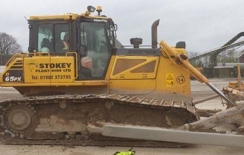 undercarriage plus Komatsu track bulldozer excavator stokey plant