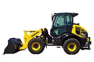 Komatsu WA100 compact wheel loader loading shovel WA100M-8 dash 8
