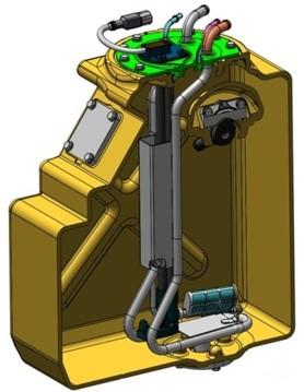 AdBlue® AdBlue Komatsu Machine Digger Excavator Tank handling storing