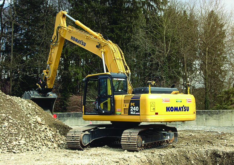 Komatsu Excavator with Topcon Positioning equipment