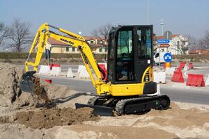 Komatsu mini excavator PC26MR-3 PC26 Plantworx Royal Cornwall Show
