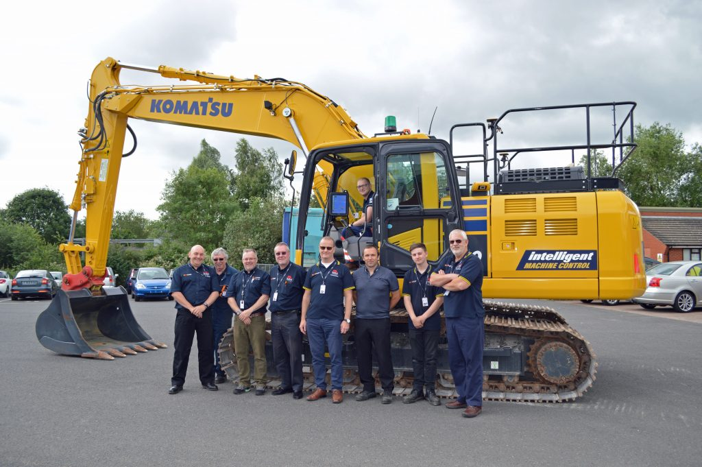 Komatsu Stafford Newcastle College Excavator Digger apprentices