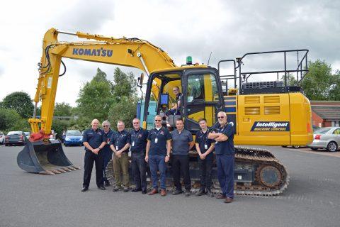 Komatsu Stafford Newcastle College Excavator Digger apprentices
