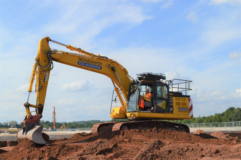 Malcolm Clegg operating a Komatsu intelligent excavator
