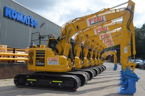 1st call plant hire Komatsu excavators diggers
